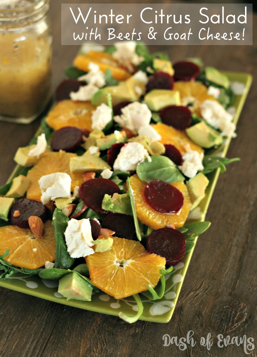 Winter Citrus Salad with Love Beets & Goat Cheese!
