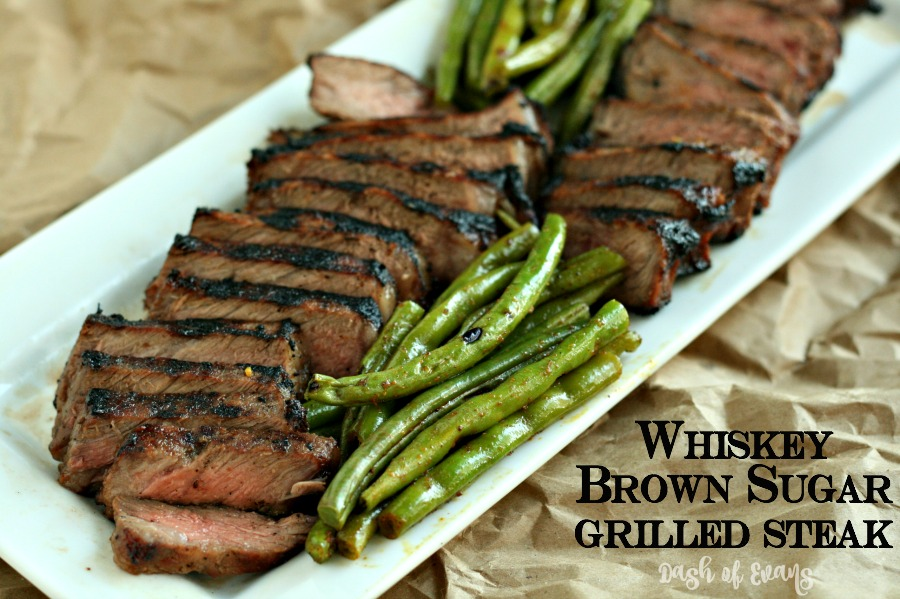 Whiskey Brown Sugar Grilled Steak - Dash Of Evans