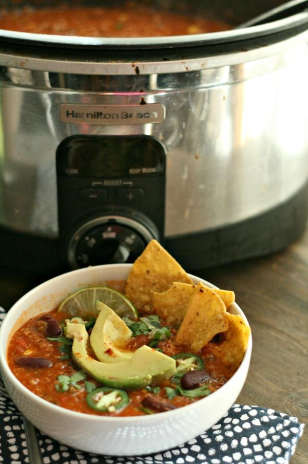 Slow-Cooker Turkey Taco Soup - Dash Of Evans